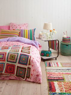 Bedroom with crochet