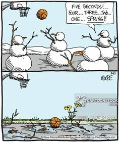Spring funny cartoons from CartoonStock directory - the world's largest on-line collection of cartoons and comics. Funny Cartoons, Funny Comics, Spring Cartoon, Stress Humor, Steve Moore, Funny Snowman, Christmas Jokes, Funny Comic Strips, Build A Snowman