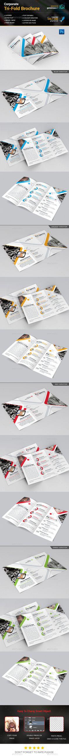 Multi-purpose Tri-Fold Brochure Template PSD. Download here: http://graphicriver.net/item/multipurpose-trifold-brochure/16182085?ref=ksioks