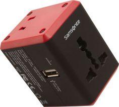 Samsonite Universal Power Adapter Black/Red - via eBags.com!