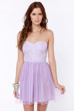 Barre-owed Time Lavender Sequin Dress