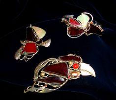 Seturi - marian nacu Cufflinks, Jewelry Design, Brooch, Floral, Rings, Accessories, Fashion, Moda, Fashion Styles