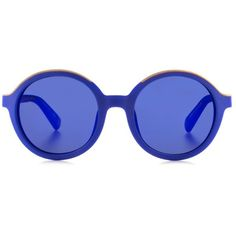 Etnia Barcelona - Klein blue full circle sunglasses ($173) ❤ liked on Polyvore featuring accessories, eyewear, sunglasses, glasses, vintage style glasses, retro sunglasses, circle glasses, retro glasses and blue glasses