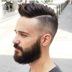 Long Hair Short Sides Beard Fashions