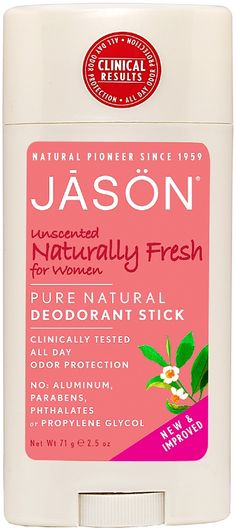 Paraben Free Deodorant. Multi Chemical Sensitivity & Eczema related Allergies - Jason Fragrance Free Deodorant Stick for Women http://www.theremustbeabetterway.co.uk/jason-fragrance-free-deodorant-stick-for-women.html #FragranceFREE #PerfumeFREE #Unscented #Eczema #MCS #EI Scent Sensitive & Sensitive Skin. Performs exceptionally well for controlling body odour.