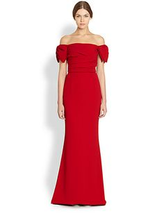 Dolce & Gabbana - Off-The-Shoulder Bow Gown - Saks.com