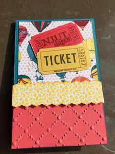 Scrapbooking card ticket