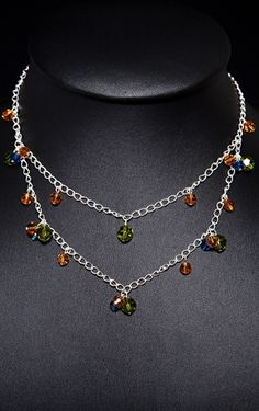 Green, Golden Yellow and Blue Swarovski Crystal Necklace. http://store.nightlightinternational.com/product_p/db007n.htm $39.99. For Freedom's Sake.