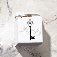 Key Monogram Favor Box Wrap