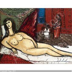 SOUZA Francis Newton,UNTITLED, AFTER TITIAN'S VENUS OF URBINO AND MANET'S OLYMPIA,Sotheby's,London