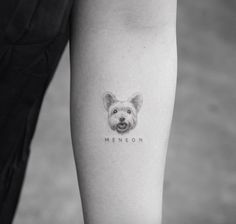 Tattoos of dogs, little tattoos, animal tattoos, mini tattoos, small ta Small Dog Tattoos, Little Tattoos, Mini Tattoos, New Tattoos, Body Art Tattoos, Cool Tattoos, Tattoos Skull, Tatoo Dog, Get A Tattoo