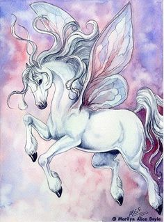 Beautiful Pegasus with butterfly wings. .. possible tattoo?