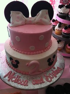 Minnie Mouse cake.  Maybe change to Mickey?  Lathan really likes Mickey right now....but a lot can change between now and December....