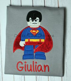 Superman Lego Birthday Shirt  FREE PERSONALIZATION by CrabbyNurseCreations on Etsy