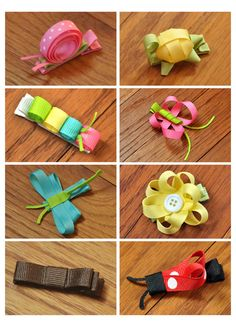 Hair Clip Creature Collection with Ribbon Flower by ClaraLynnBows, $19.00