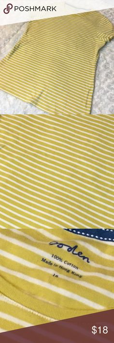 Boden Short Sleeve Tee Sz 16 / 100% Cotton / No visible show of wear. 18 Boden Tops Tees - Short Sleeve