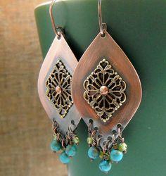 Bohemian Style Chandelier Earrings.