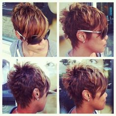 short haircuts long in front short in back - Google Search