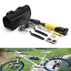 High Quality Bike Bicycle Repair Tools Kit Mountain Road Bike Simple Self-Repair Tool Set Practical Affordable