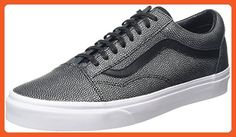 0aecdb1f4bd018 Vans Old Skool Mens Black Leather Lace Up Lace Up Sneakers