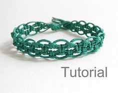 Lacy macrame bracelet pattern tutorial pdf purple by Knotonlyknots