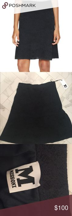 Missoni Lace Skirt Brand new! Has a slight snag on waist from the hanger but otherwise excellent condition. Color is like a charcoal grey. Missoni Skirts A-Line or Full