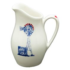 *Jug: Alicia Heart Range Windmill R270,00 Colour: Blue and Red 1 x 800ml Ceramic Jug Dishwasher and Microwave safe Call us: +27 (0) 861999938 Chutney Grey - Cape Town