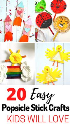 Popsicle Stick Crafts Are a Right of Passage for Children! Learn More About The Brilliant Fun and EASY Popsicle Crafts Your Kids Will Absolutely Adore. Fun crafts for kids is what is all about. Indoor Activities For Kids, Toddler Activities, Toddler Games, Toddler Play, Free Activities, Easy Arts And Crafts, Crafts For Kids To Make, Simple Crafts, Kids Diy