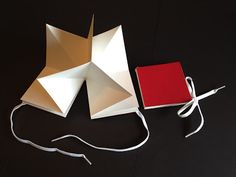 making a folded origami lotus book @ teachkidsart