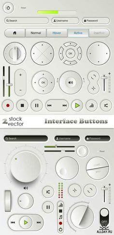 Векторный клипарт - Interface Buttons