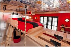 jungle gym room. If we ever have a kid that is just like Jeff when he was a kid we will need this room!