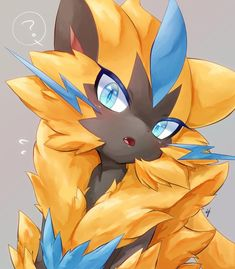 Zeraora by ij Pokemon Fan Art, Pokemon Zelda, Gif Pokemon, Baby Pokemon, Pokemon Images, Pokemon Manga, Cool Pokemon Wallpapers, Cute Pokemon Wallpaper, Ninetales Pokemon