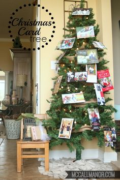 Christmas card tree { display } from McCall Manor
