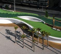 amazing boardwalk/beachfront walkway .... Benidorm Seafront | Location: Benidorm, Spain | Architects: Carlos Ferrater – Xavier Martí Galí.  OAB | Pictures: Alejo Bagué