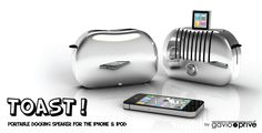 Toast - portable docking station for your iPhone & iPod