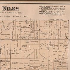 Delaware County, Indiana, Atlas, 1887 :: Muncie and Delaware County  Historic Maps