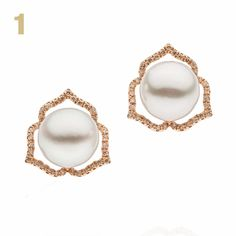 Two 11mm South Sea #pearls are framed by brown #diamonds set into #rosegold in these exquisite earrings from the @autorepearls Essential collection £1,762 (AUD $3,780). #autorepearls #southseapearls #jewelry #pearlearrings #christmasgifts #luxurygifts