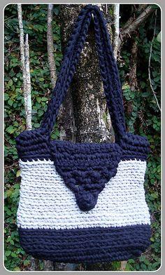 Bolsa em Trapilhos, Mala de Trapilho, Crochet Rag Bag
