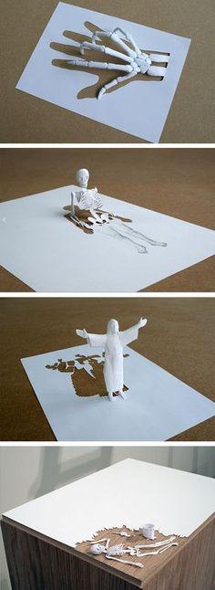 Paper Sculpture by Peter Callesen - DIY and Crafts 2019 Origami 3d, Origami Paper Art, 3d Paper Crafts, Diy And Crafts, Paper Paper, Cut Paper, Kirigami, Peter Callesen, Tableaux Vivants