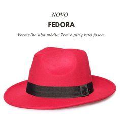 "Especialista em Chapéus ✂ on Instagram  ""Chapéu Fedora Vermelho Aba Média 76fad6ab132"