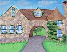 "Milton Massachusetts Eustis Estate Mansion 8x10"" giclee print by Melissa Fassel Dunn, www.melissapaints.com, $29"
