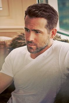 Ryan Reynolds with best hairstyle