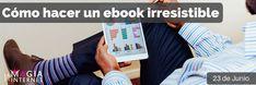 """Hoy tocó #formacion solo para los miembros de La Magia de Internet.  """"Como hacer un ebook irresistible"""" El potencial que tiene un ebook para atraer trafico a tu sitio web, generar contactos y vender mas es impresionante. Esto es solo una probadita de las formaciones semanales que tenemos en la magia de internet.   Quieres volverte un experto en #marketing online entonces informarte aquí: ✔ http://jesicaperez.net/?ad=pin11  #negocios #emprenderonline #marketing #ebook"""
