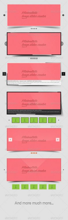 Collection Of Free And Premium Images Slider Templates PSD