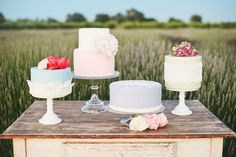 pretty wedding cakes {photo by onelove photography}
