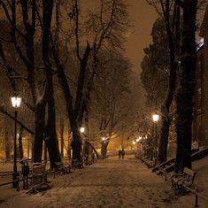 Snowy Night, Krakow, Poland  merry, merry Christmas :)