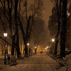 Snowy Night, Krakow, Poland  merry, merry Christmas :)