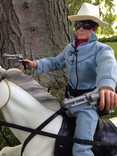 The Lone Ranger Action Figure & Silver Horse By Marx/Gabriel Toys 1973 COMPLETE  #GabrielMarx