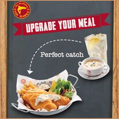 Complete your meal with an upgrade by choosing any Soup of the day with Pepsi/7up/Iced Lemon Tea.