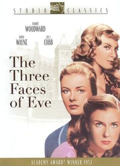 The Three Faces of Eve A doctor treats a woman suffering from Multiple Personality Disorder. Director: Nunnally Johnson Stars: Joanne Woodward, David Wayne and Lee J. Old Movies, Great Movies, Vintage Movies, Awesome Movies, Love Movie, Movie Tv, Movie Place, Movie Reels, Movie List